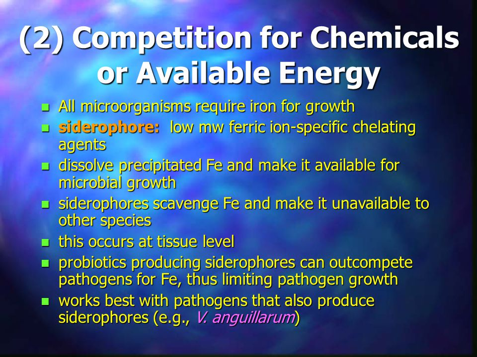 (2) Competition for Chemicals or Available Energy
