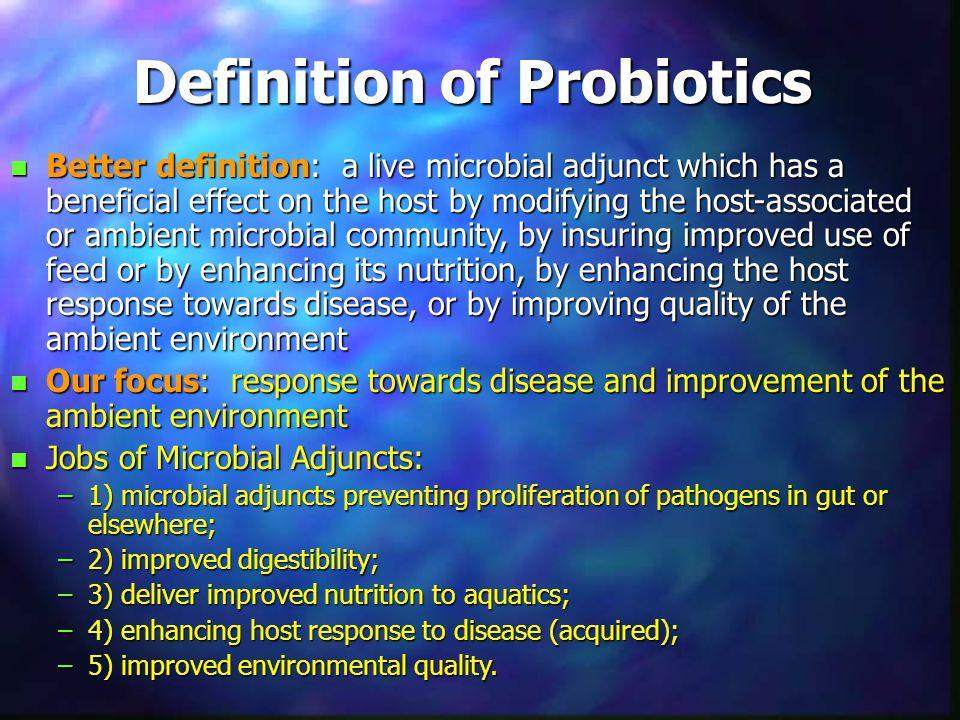 Definition of Probiotics
