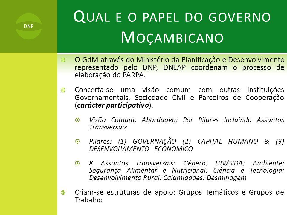 Qual e o papel do governo Moçambicano