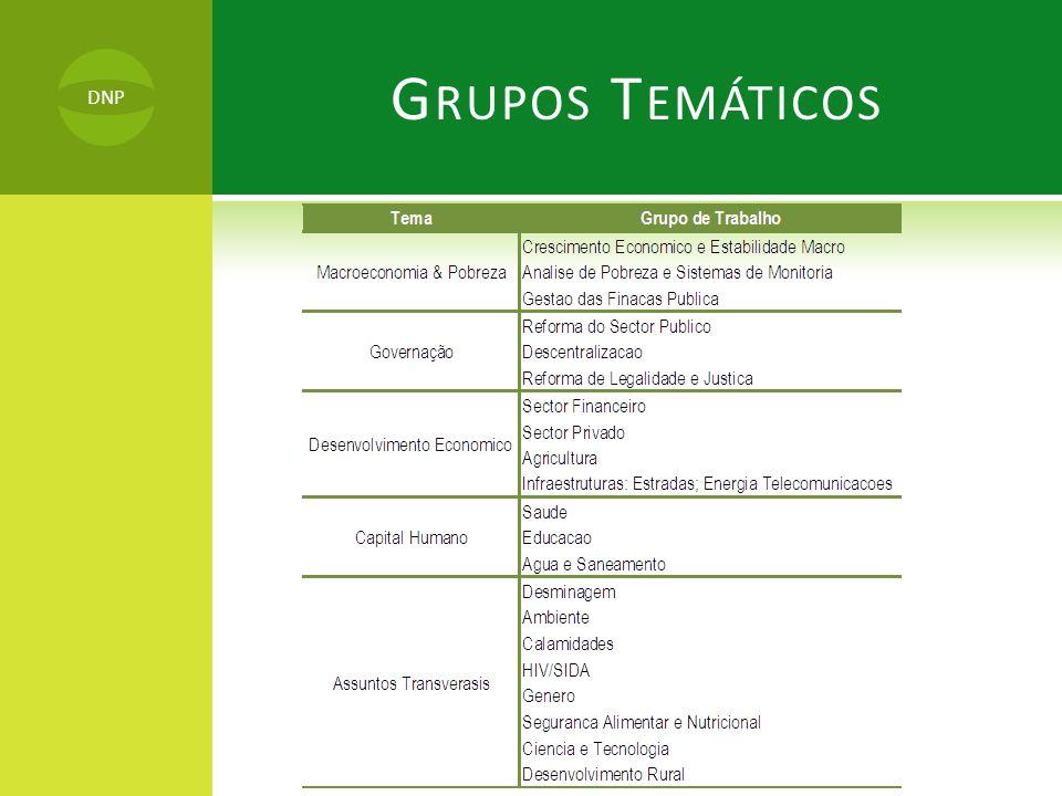 Grupos Temáticos DNP DNP