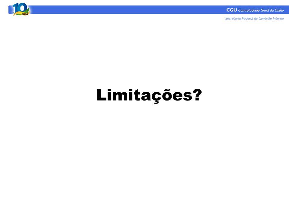 Limitações 13