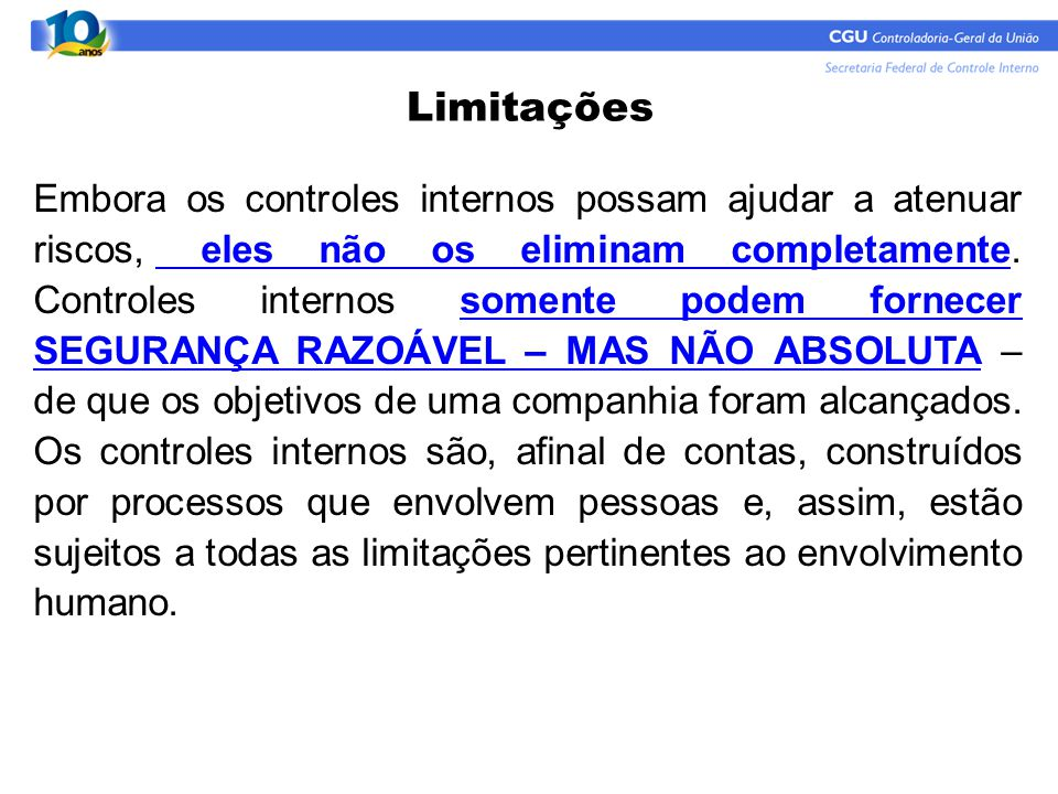 Limitações
