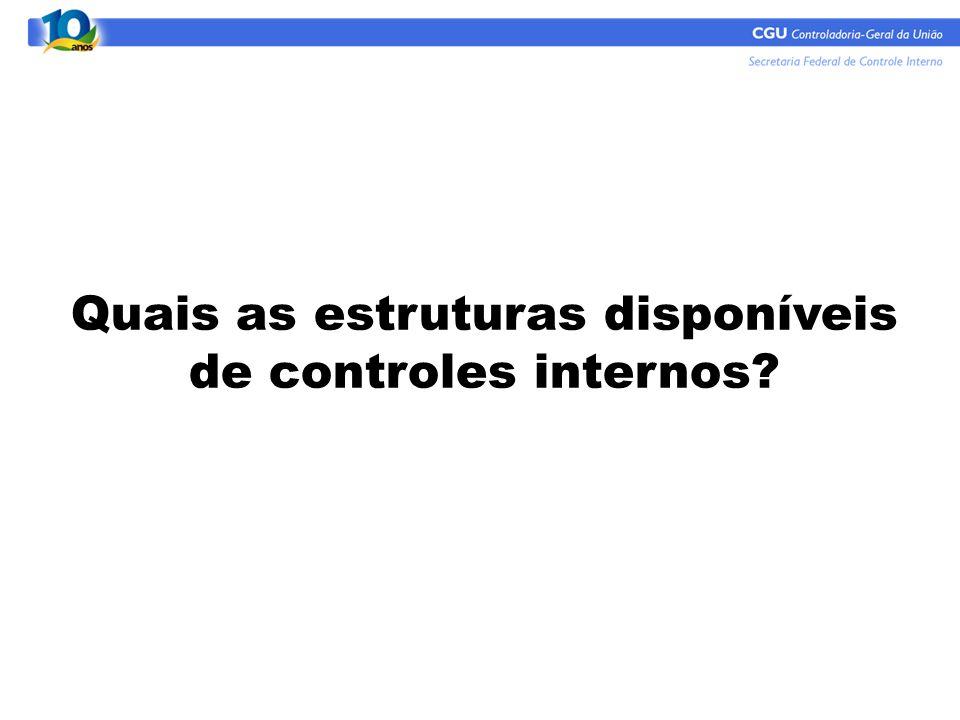Quais as estruturas disponíveis de controles internos