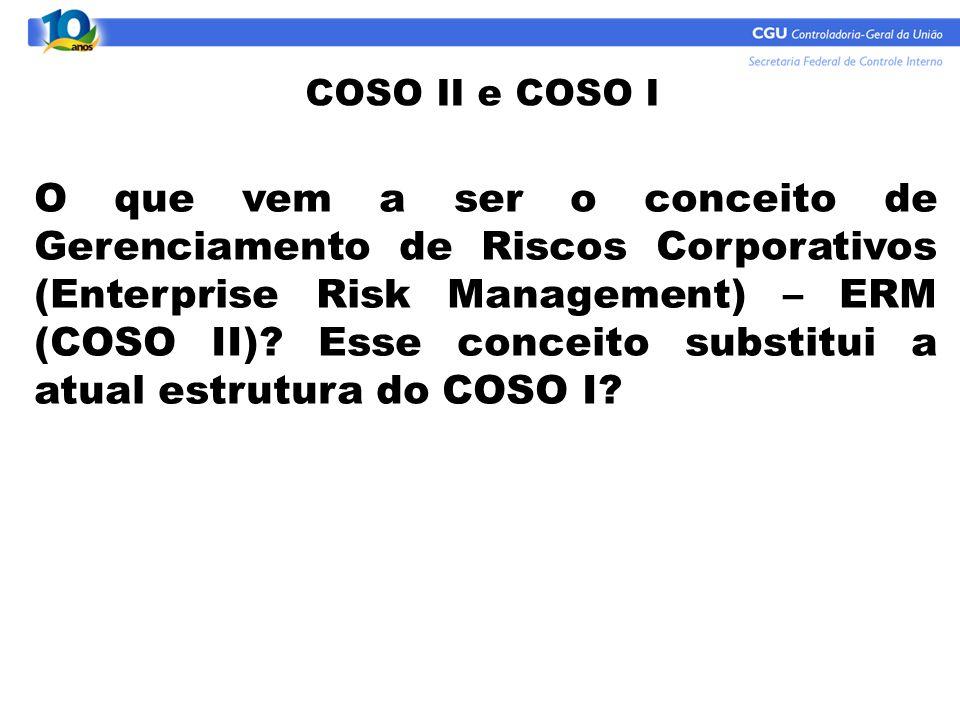 COSO II e COSO I