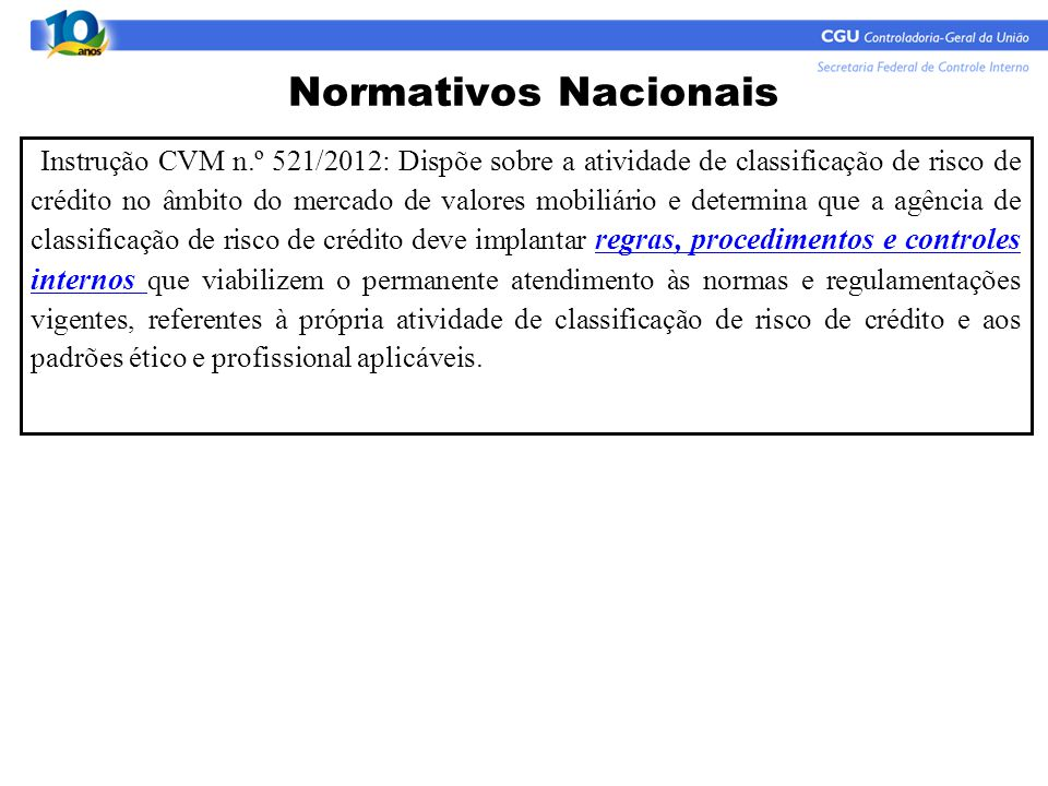 Normativos Nacionais