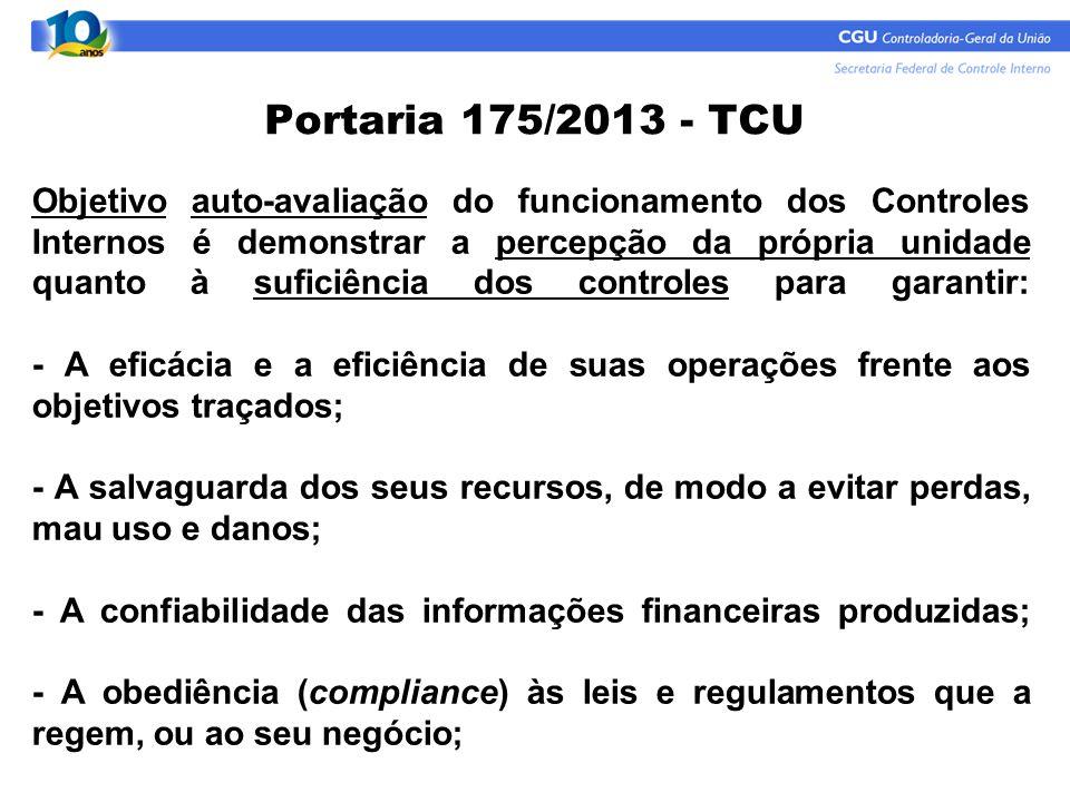 Portaria 175/2013 - TCU
