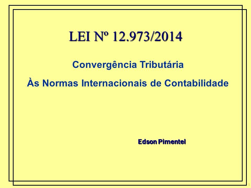 Convergência Tributária Às Normas Internacionais de Contabilidade