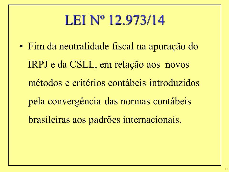 LEI Nº 12.973/14