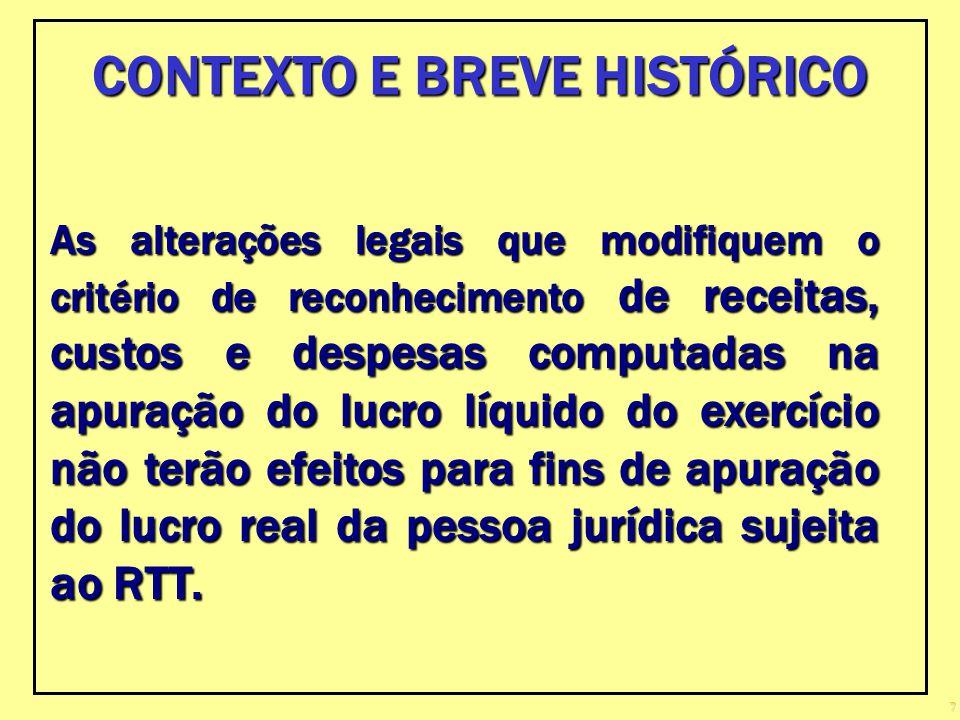 CONTEXTO E BREVE HISTÓRICO