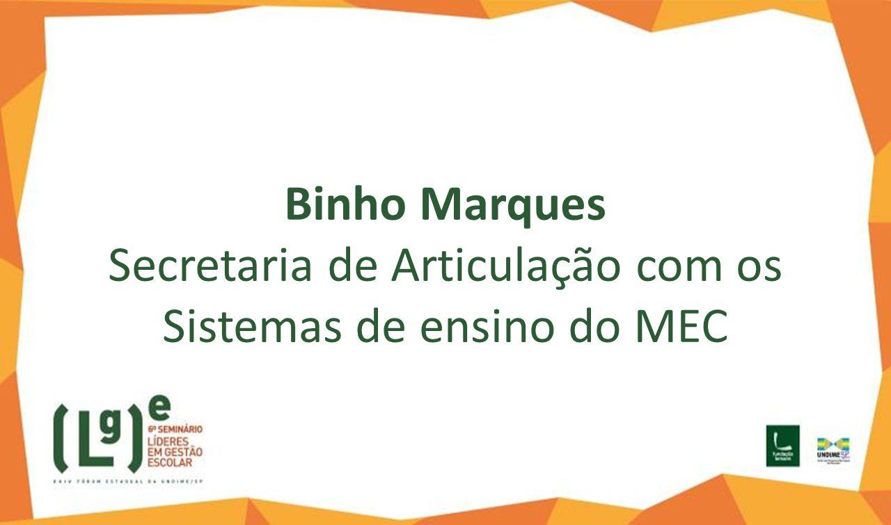Binho Marques Secretaria de Articulação com os Sistemas de ensino do MEC
