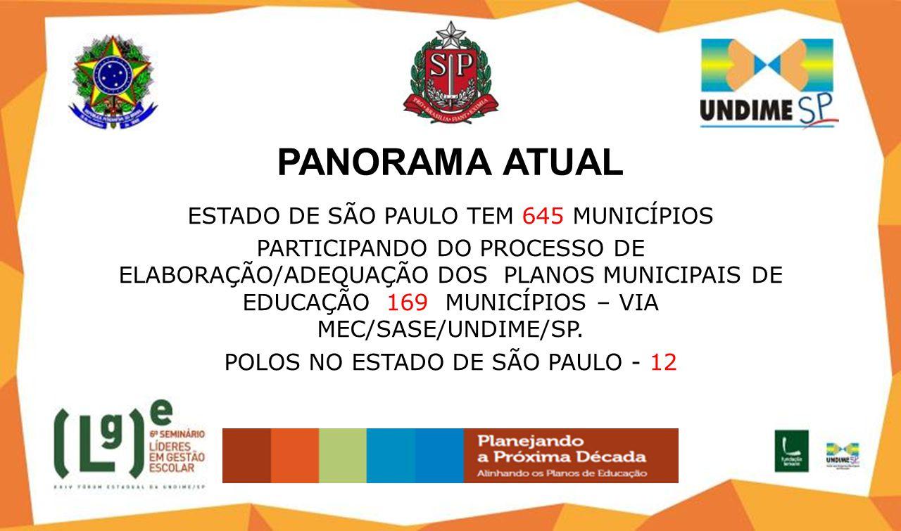 PANORAMA ATUAL ESTADO DE SÃO PAULO TEM 645 MUNICÍPIOS