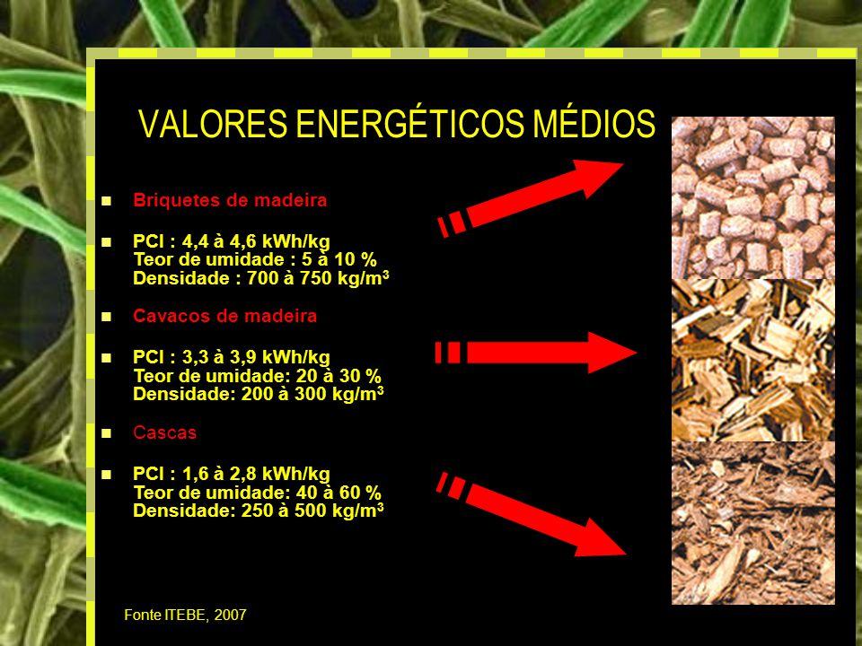 VALORES ENERGÉTICOS MÉDIOS