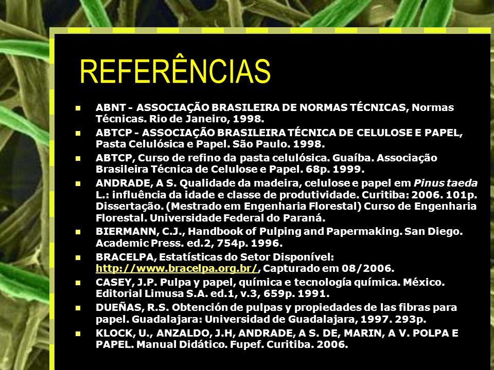REFERÊNCIAS ABNT - ASSOCIAÇÃO BRASILEIRA DE NORMAS TÉCNICAS, Normas Técnicas. Rio de Janeiro, 1998.