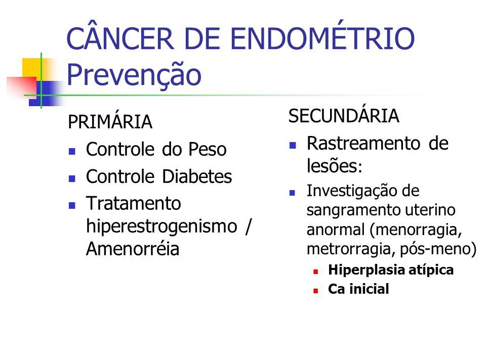CÂNCER DE ENDOMÉTRIO Prevenção