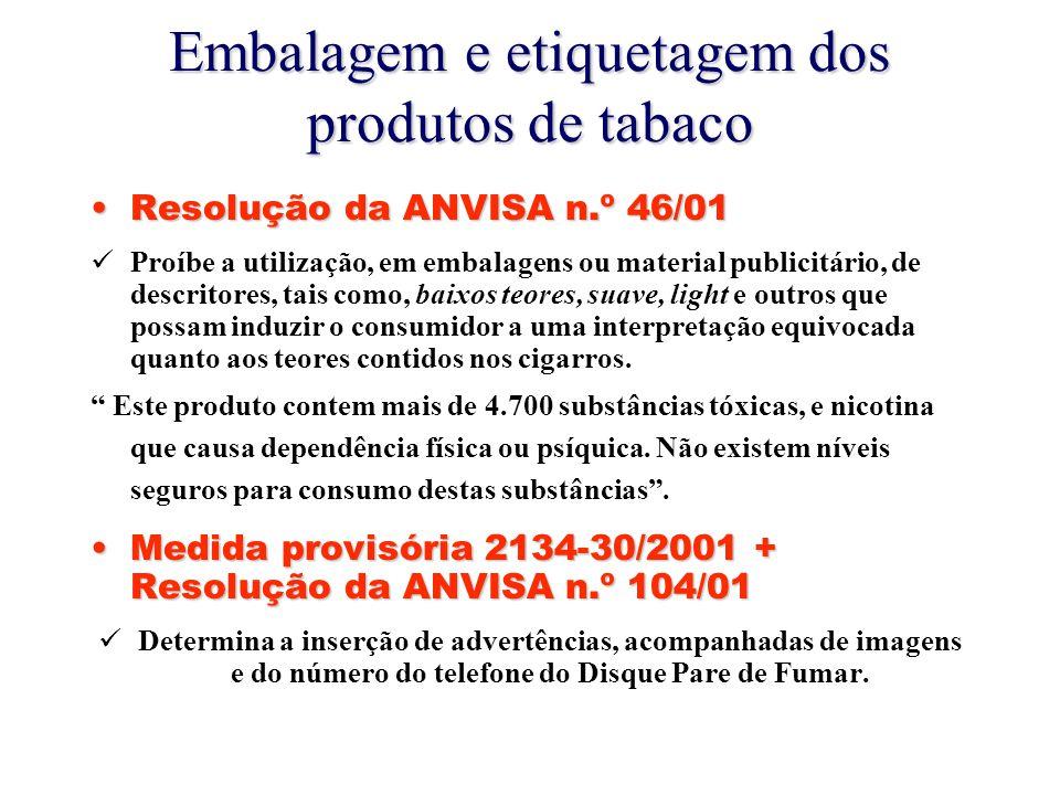 Embalagem e etiquetagem dos produtos de tabaco