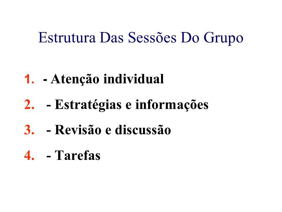 Estrutura Das Sessões Do Grupo