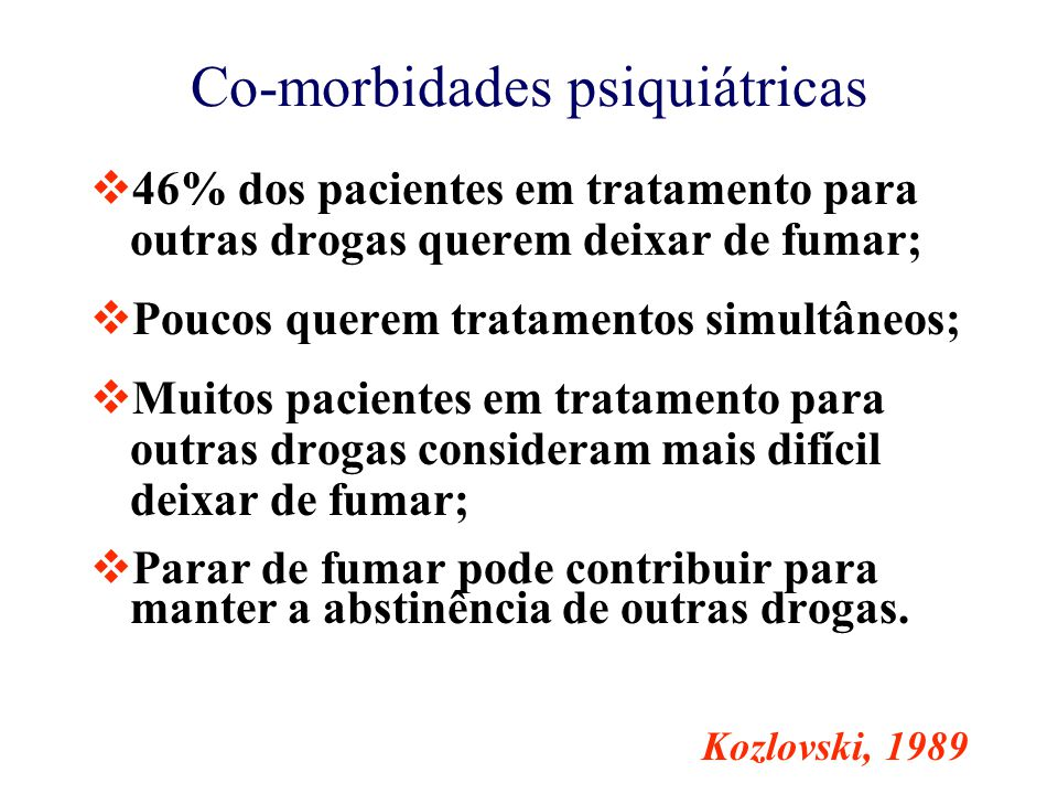 Co-morbidades psiquiátricas