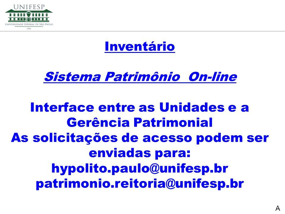 Sistema Patrimônio On-line