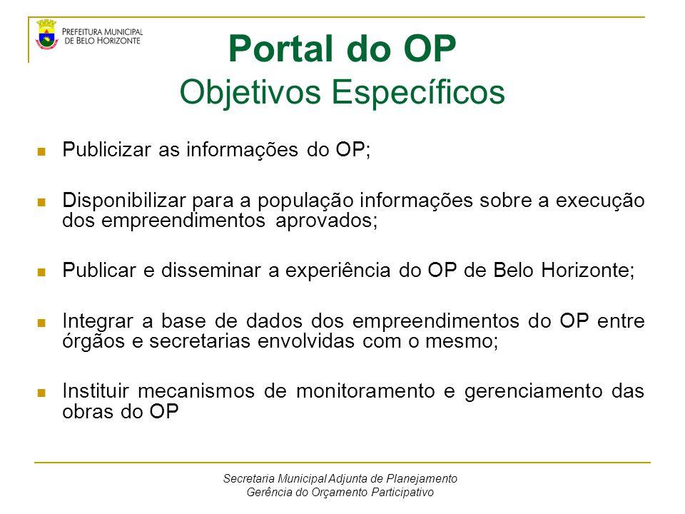 Portal do OP Objetivos Específicos