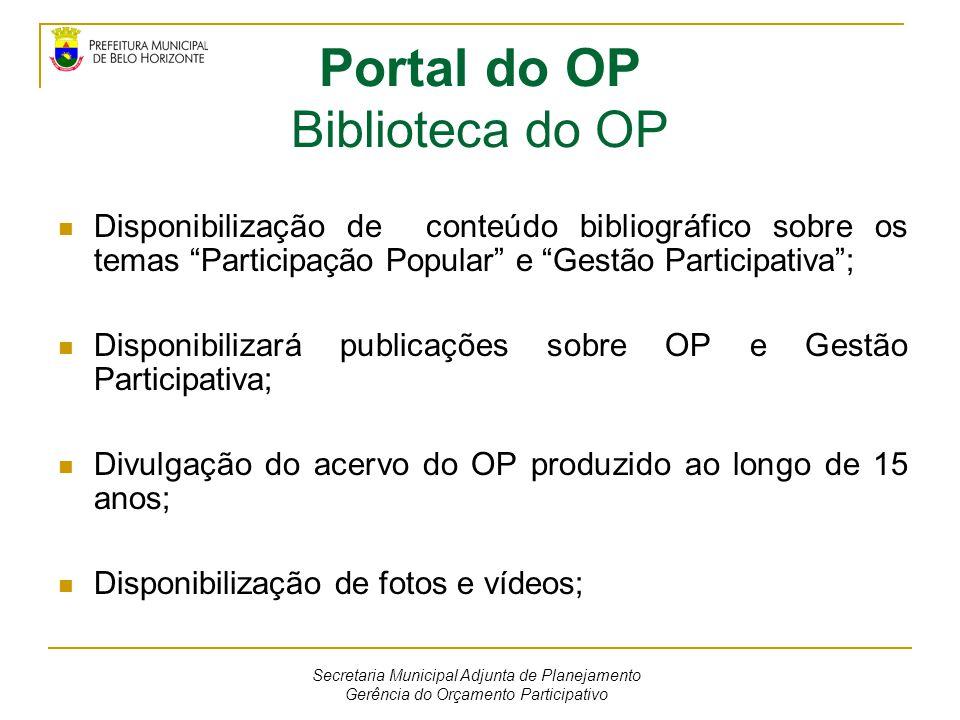 Portal do OP Biblioteca do OP