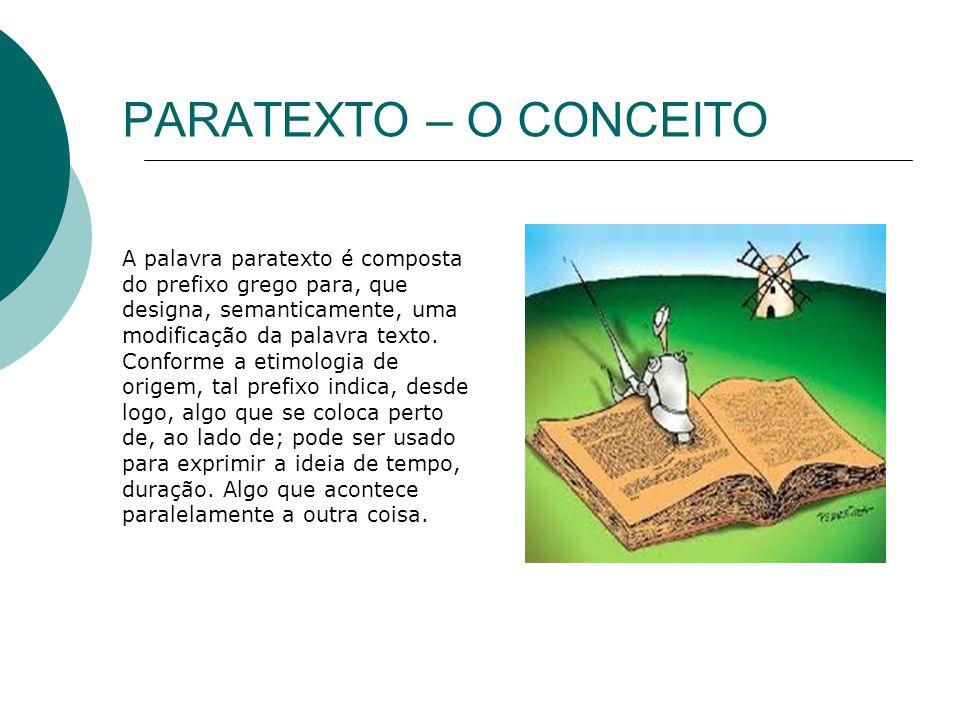 PARATEXTO – O CONCEITO