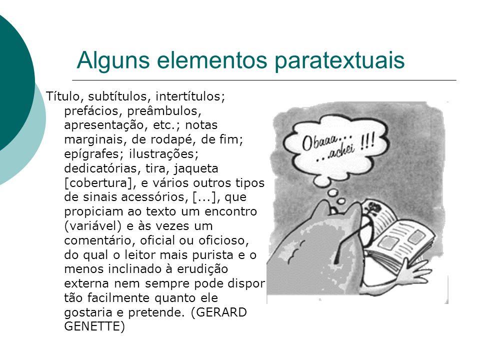 Alguns elementos paratextuais