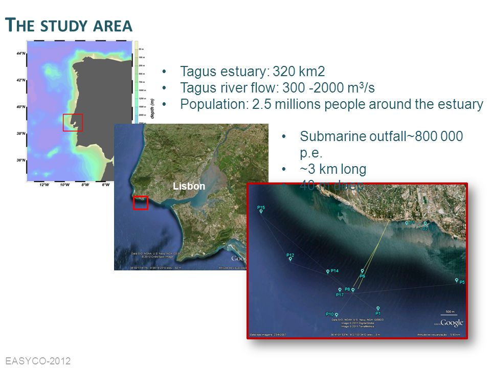 The study area Tagus estuary: 320 km2 Tagus river flow: 300 -2000 m3/s