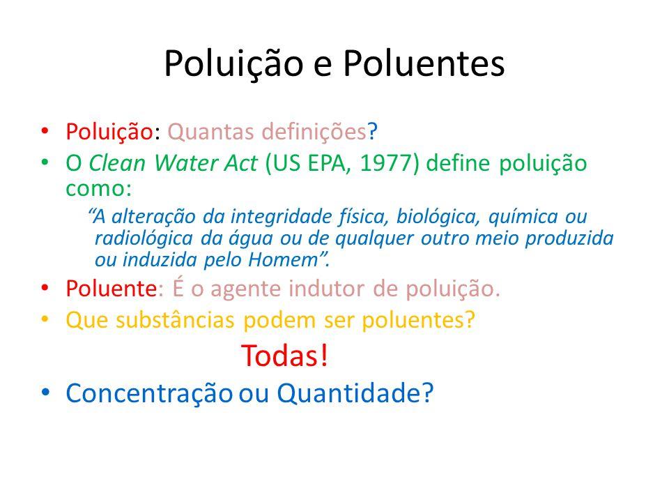 Poluição e Poluentes Concentração ou Quantidade