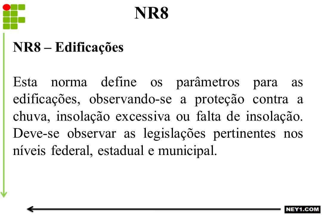 NR8 NR8 – Edificações.
