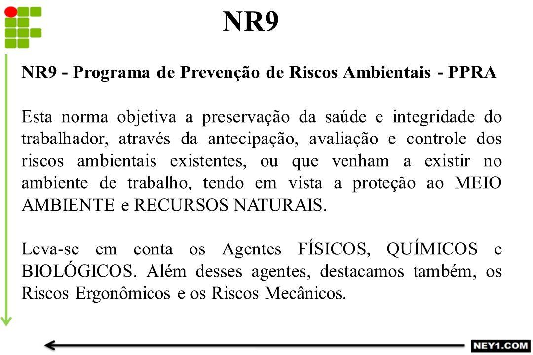 NR9 NR9 - Programa de Prevenção de Riscos Ambientais - PPRA