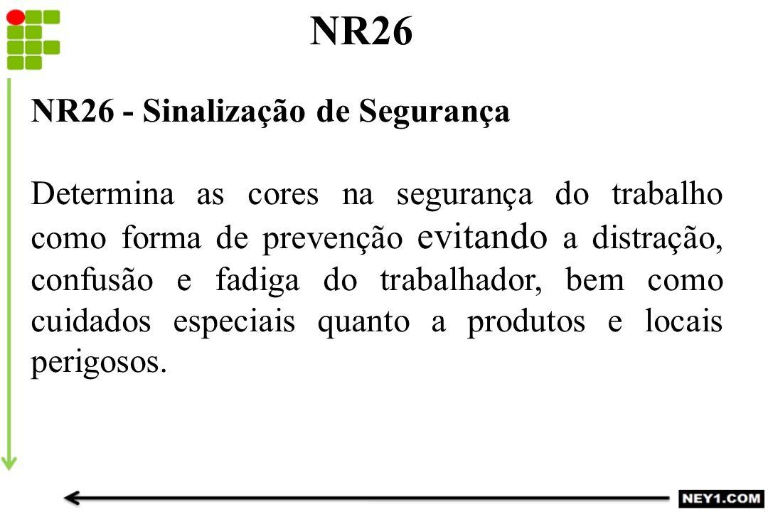 NR26 NR26 - Sinalização de Segurança