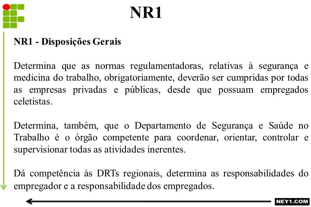 NR1 NR1 - Disposições Gerais