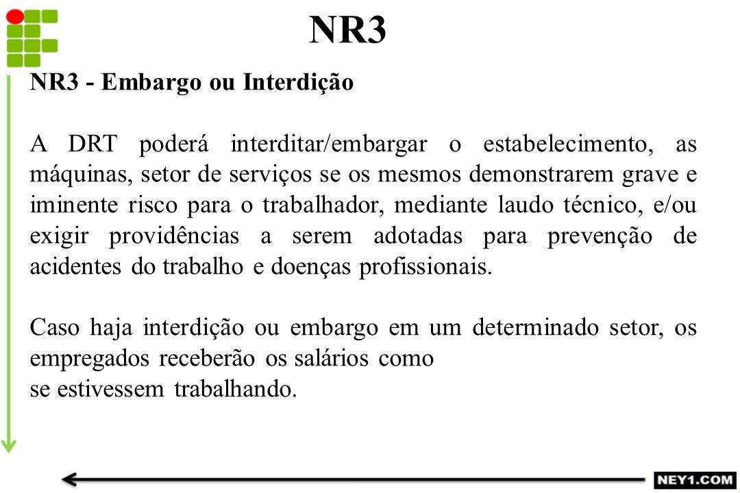 NR3 NR3 - Embargo ou Interdição