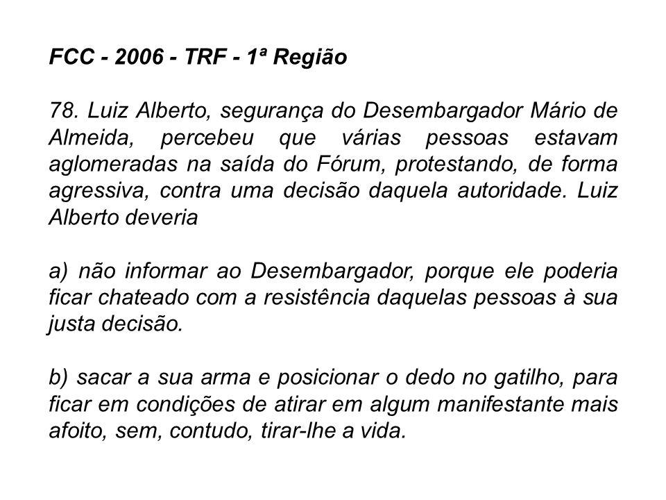 FCC - 2006 - TRF - 1ª Região