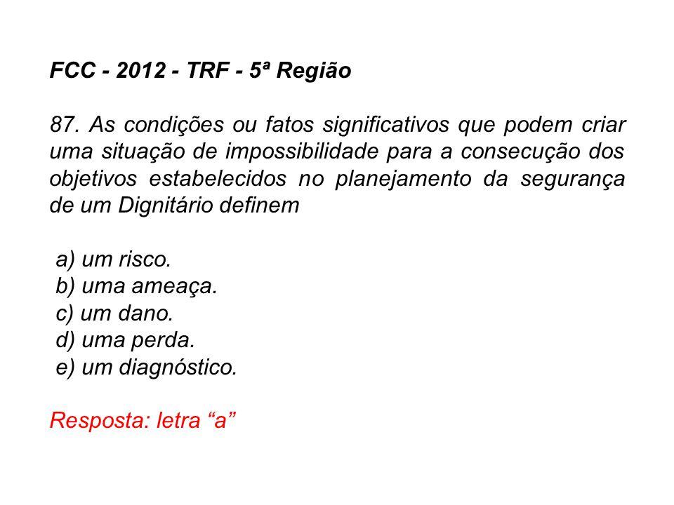 FCC - 2012 - TRF - 5ª Região