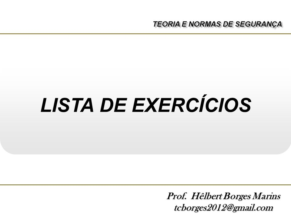 Prof. Hêlbert Borges Marins