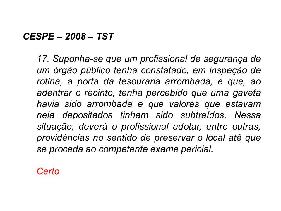 CESPE – 2008 – TST