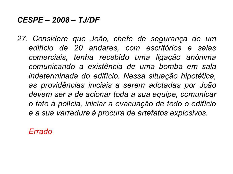 CESPE – 2008 – TJ/DF
