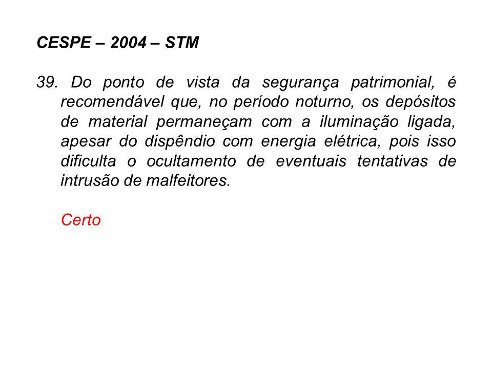 CESPE – 2004 – STM