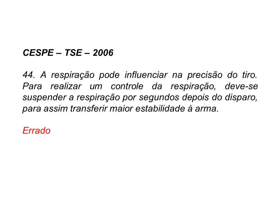 CESPE – TSE – 2006