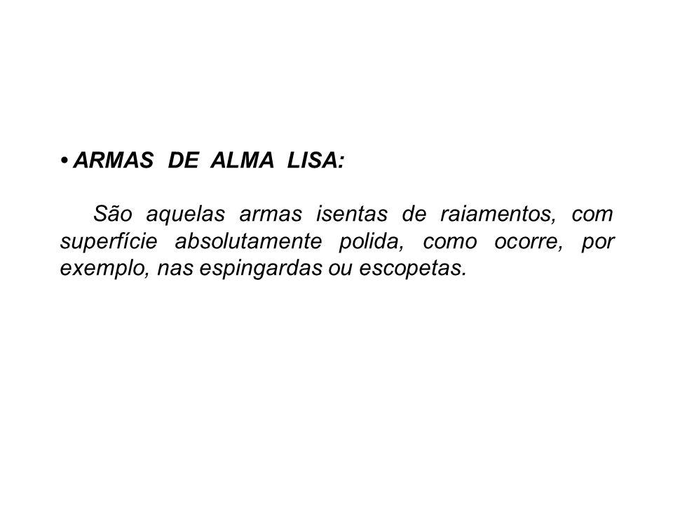 • ARMAS DE ALMA LISA: