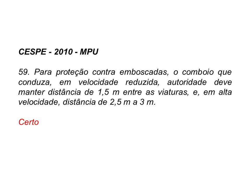 CESPE - 2010 - MPU