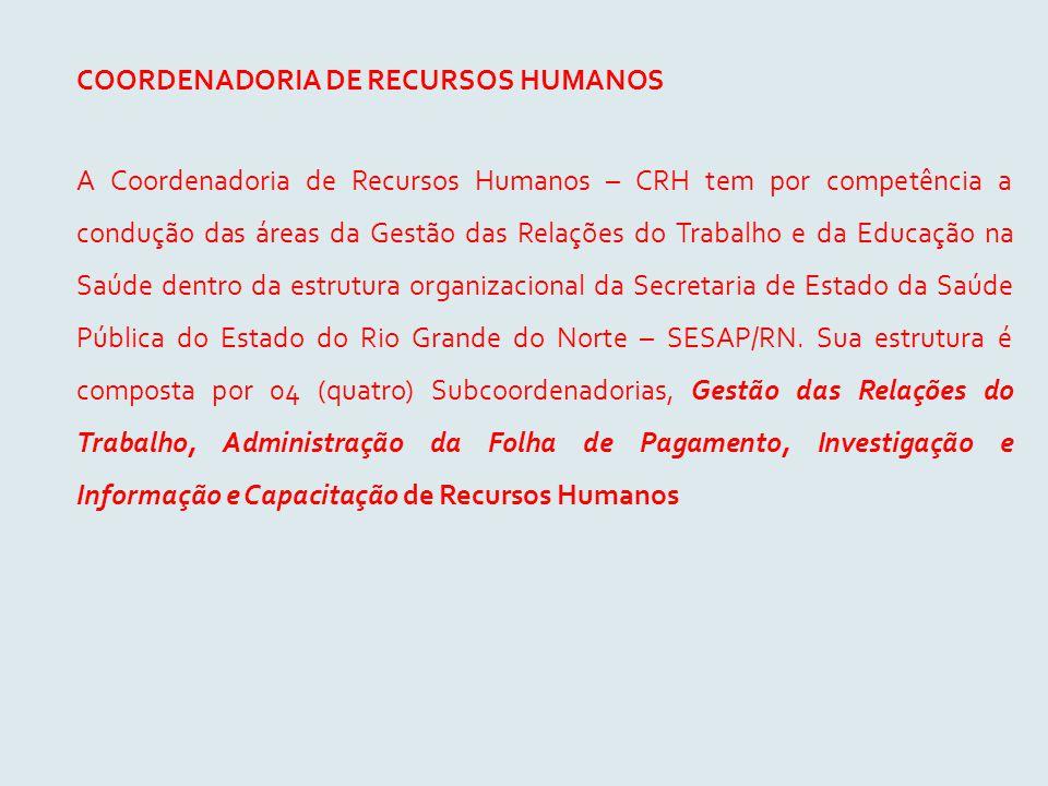 COORDENADORIA DE RECURSOS HUMANOS