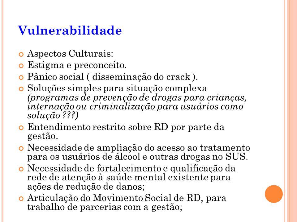Vulnerabilidade Aspectos Culturais: Estigma e preconceito.