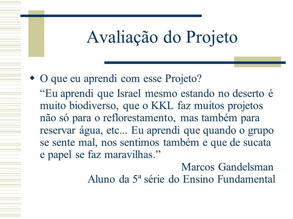 Avaliação do Projeto O que eu aprendi com esse Projeto