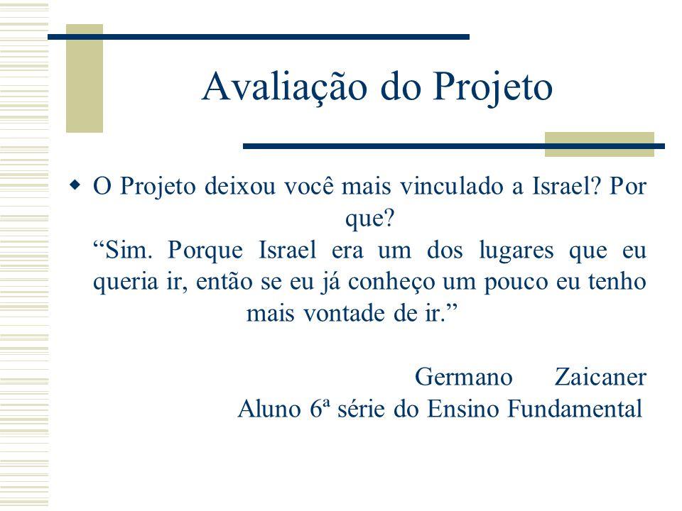 Avaliação do Projeto