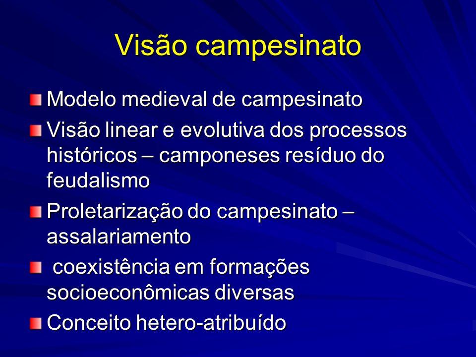 Visão campesinato Modelo medieval de campesinato