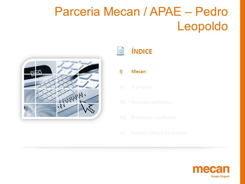 Parceria Mecan / APAE – Pedro Leopoldo