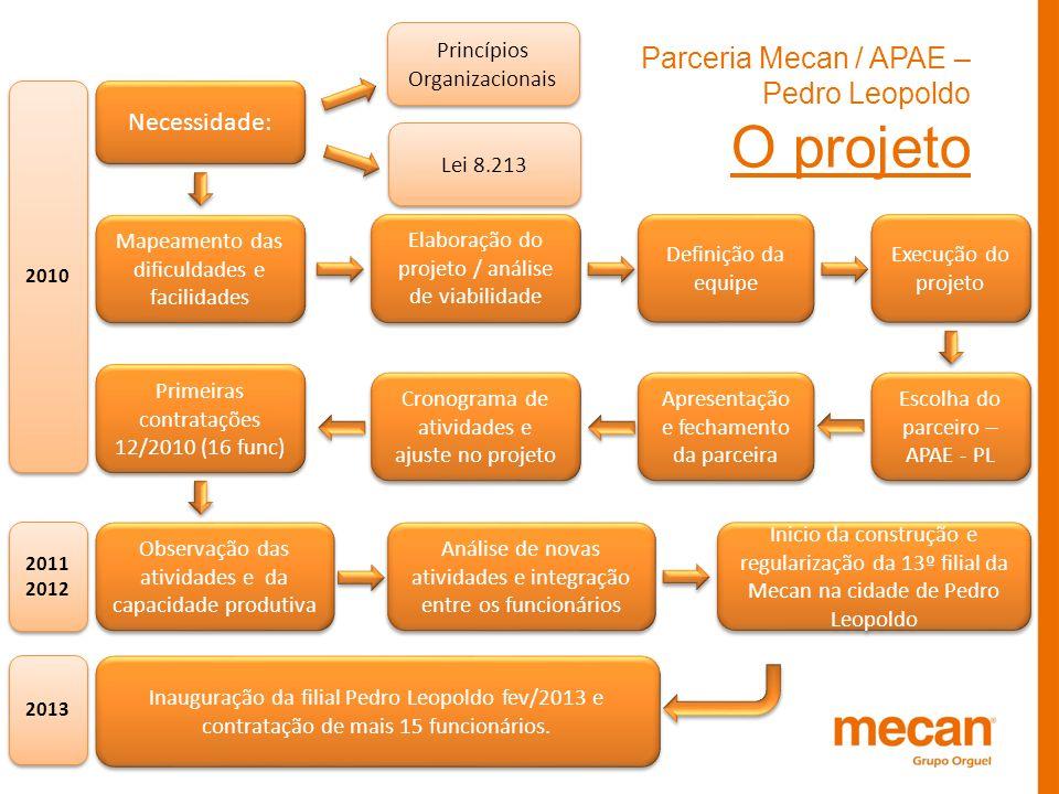 Parceria Mecan / APAE – Pedro Leopoldo O projeto