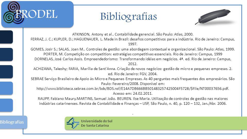 PRODEL Bibliografias Bibliografias